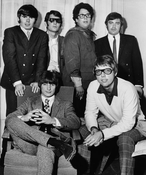 Portrait of the American rock band The Turtles in Britain on June 13, 1967.