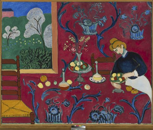 Henri Matisse, La Desserte, Harmonie en rouge, 1908.