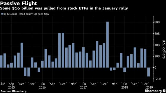 Stock Pickers Are Fired Up as Passive Funds Shed $16 Billion
