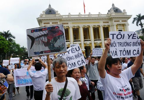 VIETNAM-TAIWAN-ENVIRONMENT-POLLUTION-PROTEST