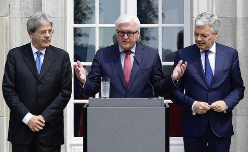 Frank-Walter Steinmeier speaks at a news conference on June 25.