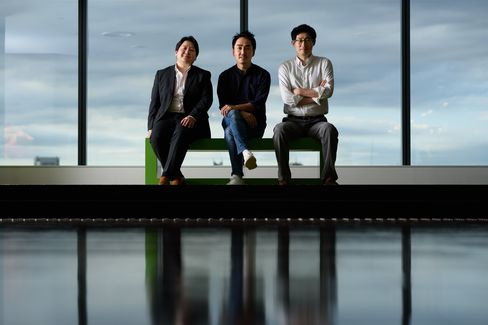 Left to right, Jun Masuda, Takeshi Idezawa, and Joongho Shin.