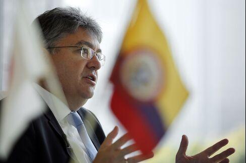 Colombia Finance Minister Mauricio Cardenas