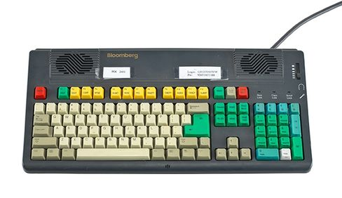 A Bloomberg keyboard used by Bill Gross
