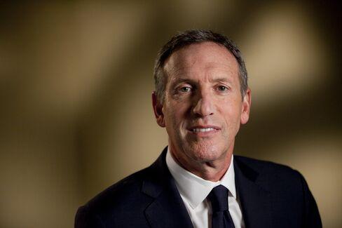 Starbucks CEO Howard Schultz. Photographer: Andrew Harrer/Bloomberg