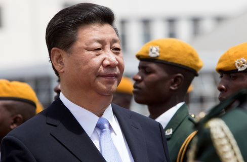 President Xi Jinping arrives in Harare