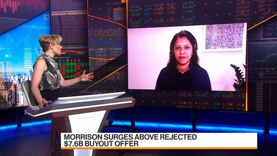 Morrison Surges Above Rejected $7.6 Billion Buyout Offer