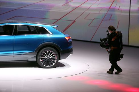 To spur demand, the manufacturer is presenting updated versions of the VW Tiguan sport utility vehicle, Audi A4 sedan and Porsche 911 sports car at the Frankfurt show.