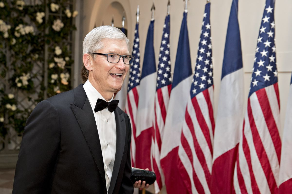 Image result for Apple's Cook to Meet With Trump Amid China Trade Tensions