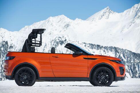 The 2017 Range Rover Evoque convertible.