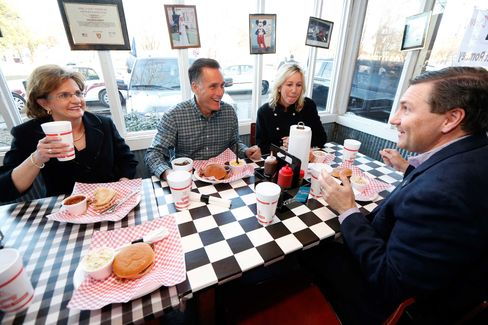 Before his speech on Wednesday, Romney's four-car motorcade stopped at the The Little Dooey, a side of the road BBQ joint famous for serving country music stars.