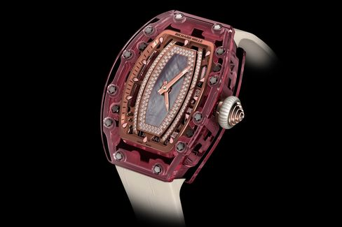 The Richard Mille Pink Lady Sapphire is just what it sounds like: a watch made from a solid block of pink sapphire.