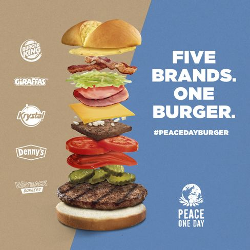 Burger King will offer a sandwich with ingredients from five different chains on Sept. 21.