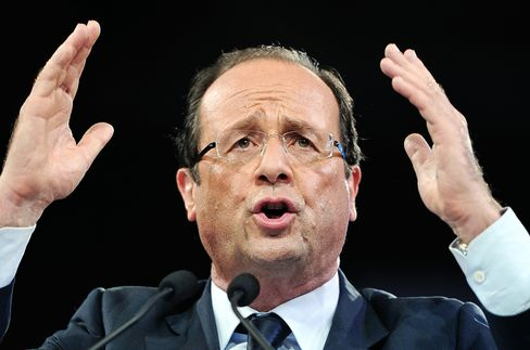 Socialist Presidential Candidate Francois Hollande