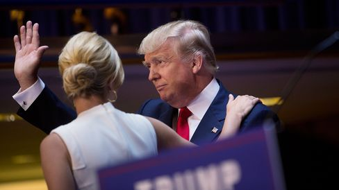Donald Trump is greeted by his daughter Ivanka Trump while announcing he will seek the 2016 Republican presidential nomination at Trump Tower in New York on June 16, 2015.