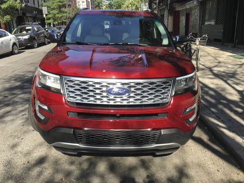 The Ford Explorer Platinum Edition comes with a 365-hp V6 engine and four-wheel-drive.