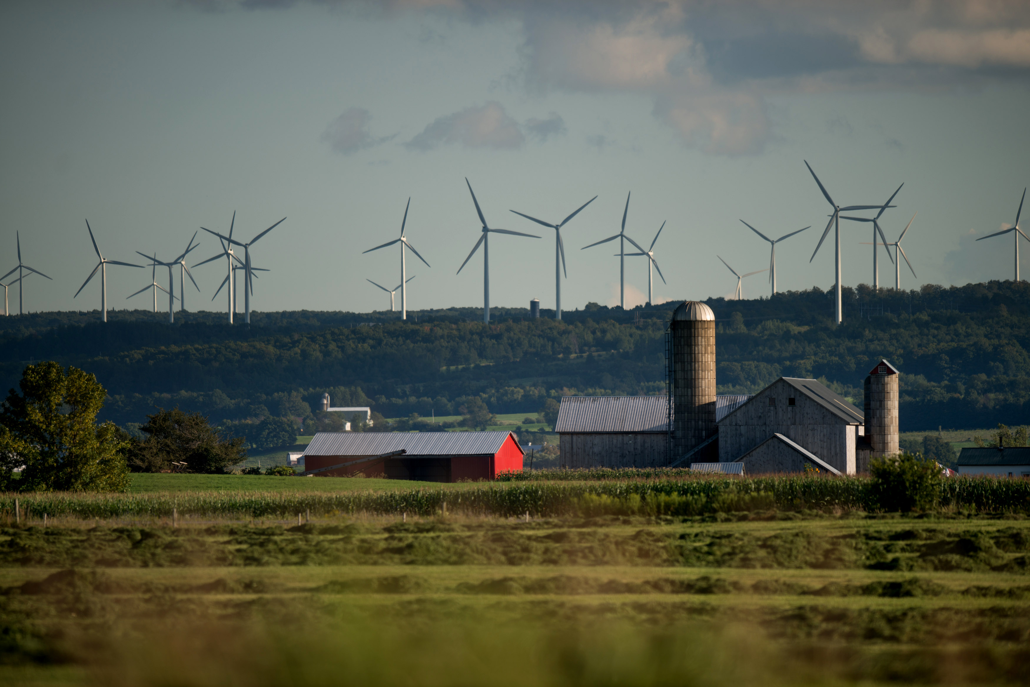Wind Farm on the Tug Hill Plateau in Lowville, New York.