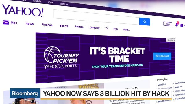 Yahoo Triples Likely Scope of 2013 Hack to 3 Billion Users