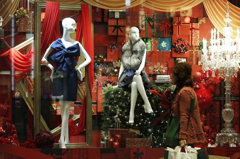 Christmas Illuminations And Shoppers As Japan's Inflation Slows For Third Month