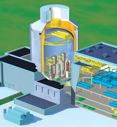 Westinghouse AP1000 Reactor Cutaway View