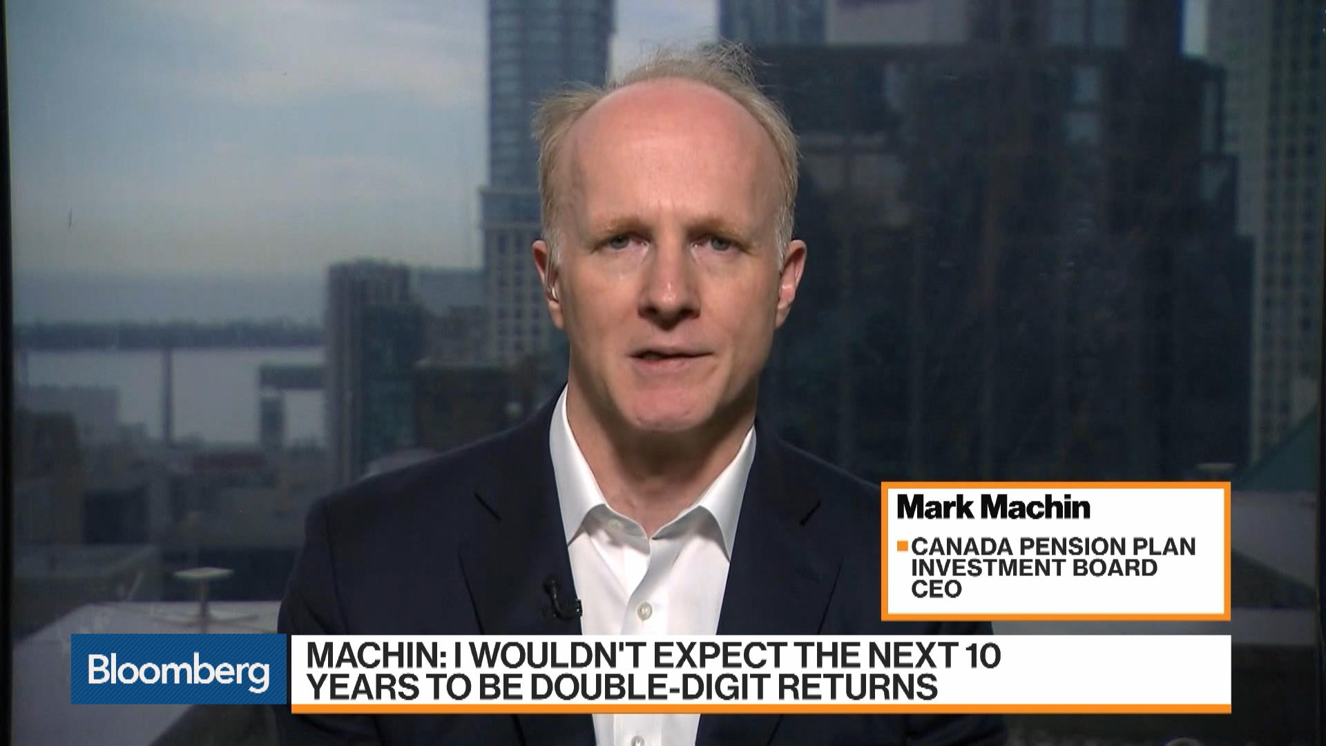 Canada Pension CEO Doesn't Expect Double-Digit Returns or Recession