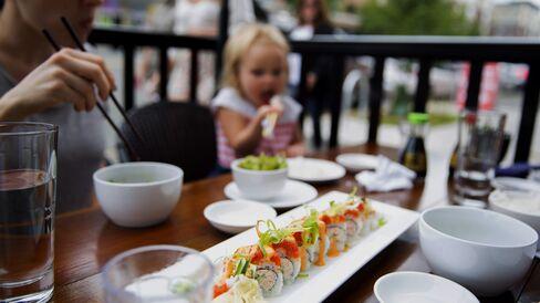 Having Sushi in Seattle