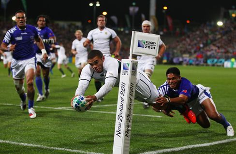 South Africa Beats Samoa in Rugby World Cup Pool D Match