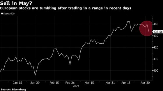 European Stocks Fall as Tech Sees Biggest Drop in Six Months