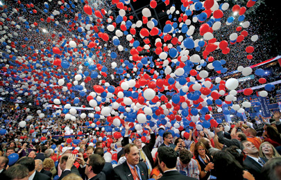 At its 2012 convention in Tampa, the GOP dropped more than 100,000 balloons