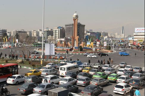 Cars In Sadeqyeh Square Tehran