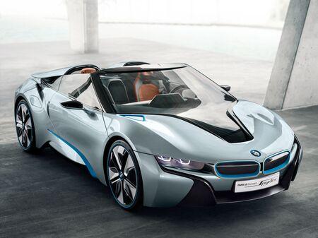 The BMW i8 Concept Spyder.