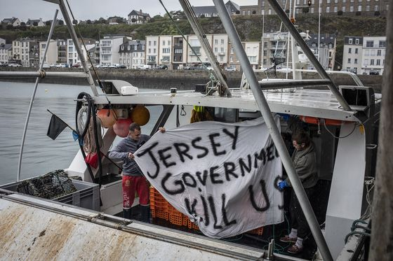 Brexit Fish Fight Rages After Navy Ships Sent to Jersey