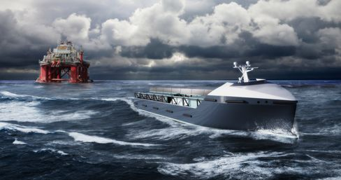 An artist rendering of the automated cargo ship. Source: Rolls-Royce PLC