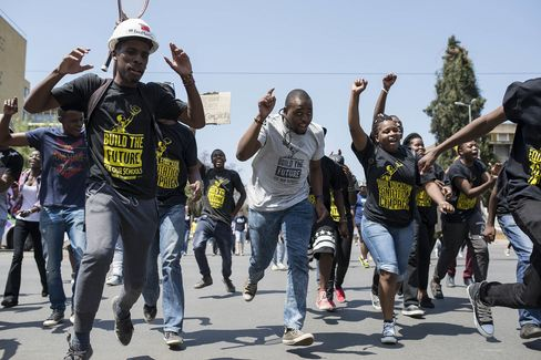 Protest against tuition fees in South Africa