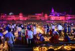 Devotees light lamps on the banks of the River Sarayu on the eve of Diwali, in Ayodhya, India, in Oct. 2019.