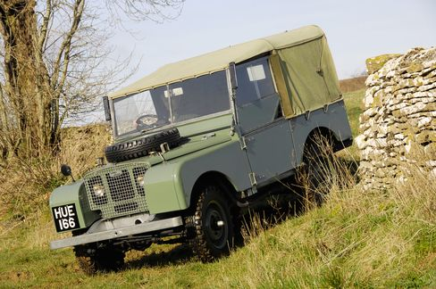 A Series I Land Rover from 1948.