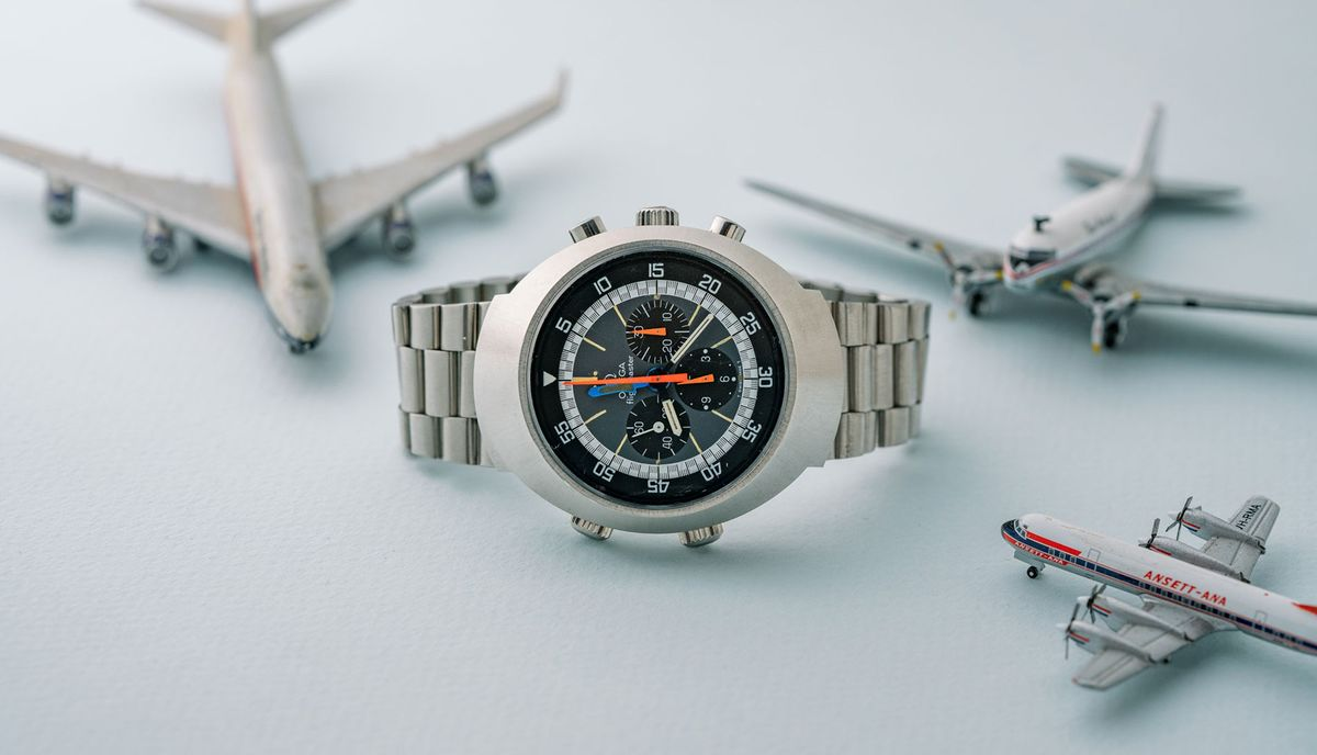 A Close Look Michael Crichton's Omega Flightmaster, a Jet Age Watch
