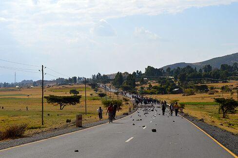 Oromo protesters leave Wolenkomi