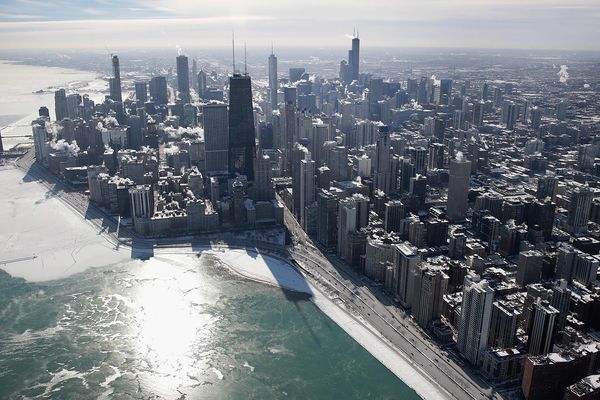 Chicago weather aerial