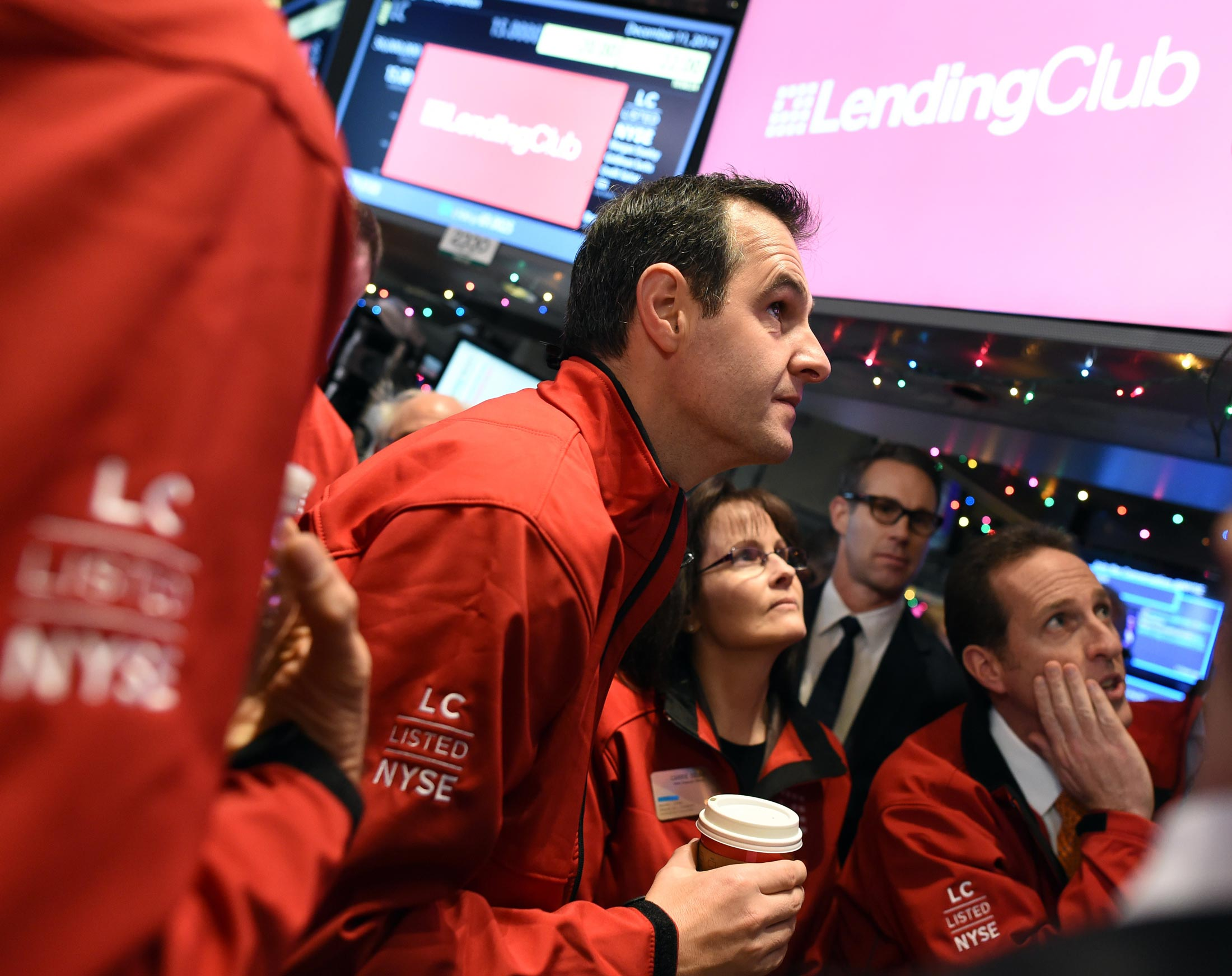 Lending Club CEO Renaud Laplanche on the floor of the New York Stock Exchange on Dec. 11, 2014.