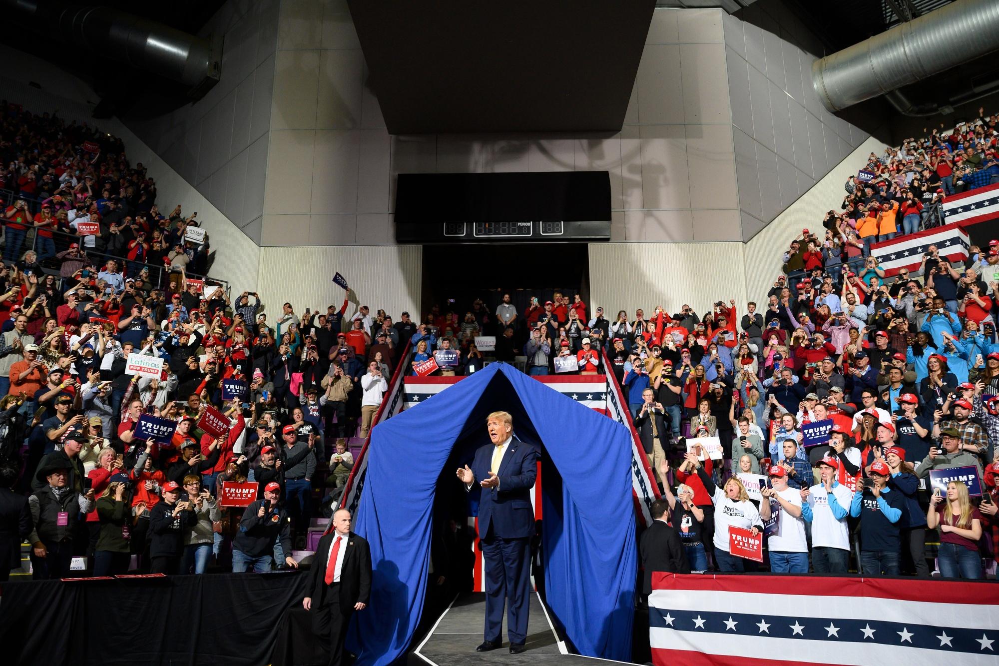 Donald Trump lors d'un rassemblement à Colorado Springs le 20 février.