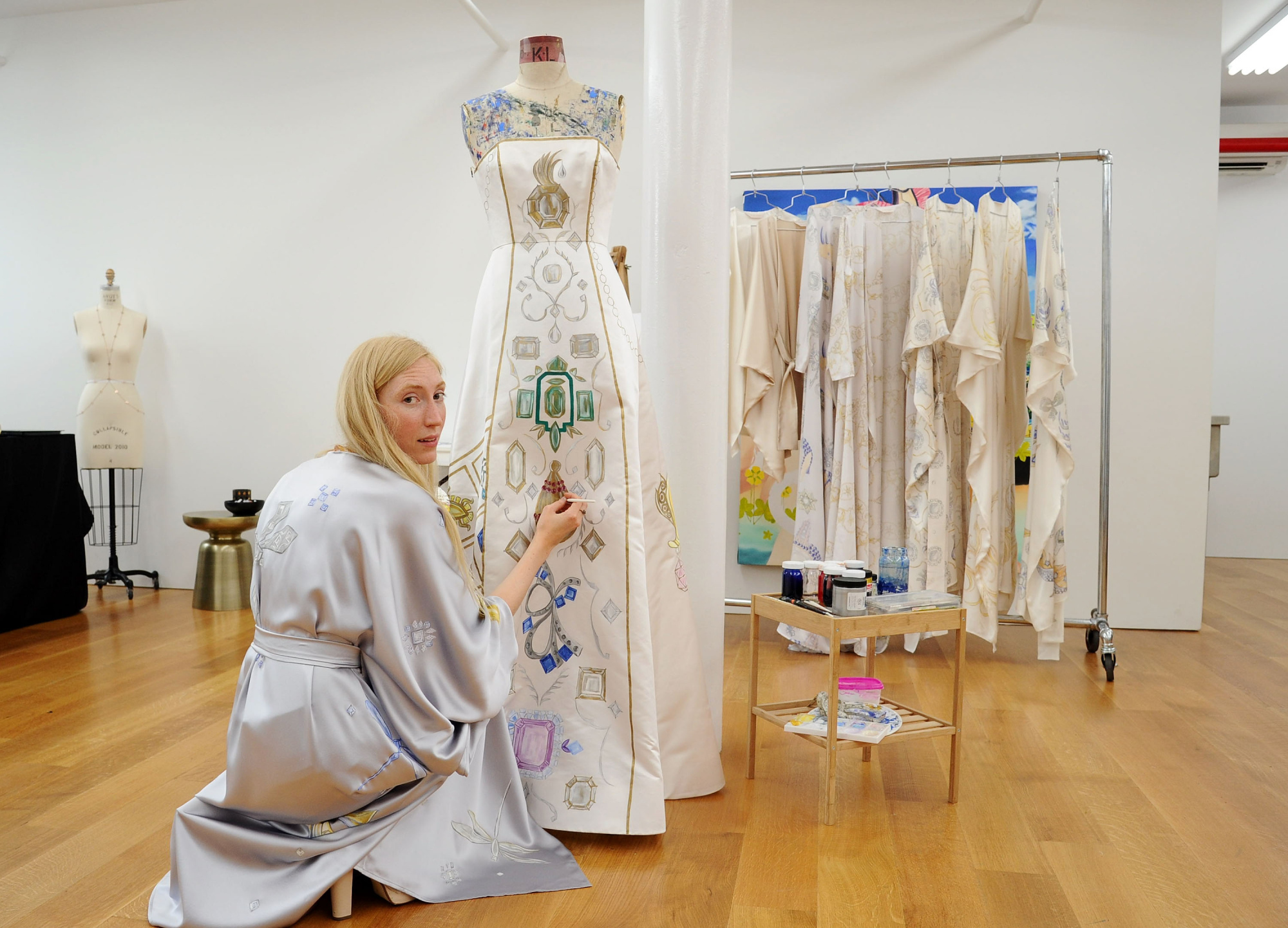 A Hand-Painted Dress by Holly Fowler