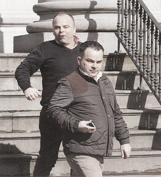 Jeremiah and Michael O'Brien outside Ennis Circuit Court in Ireland, where they were each fined €500