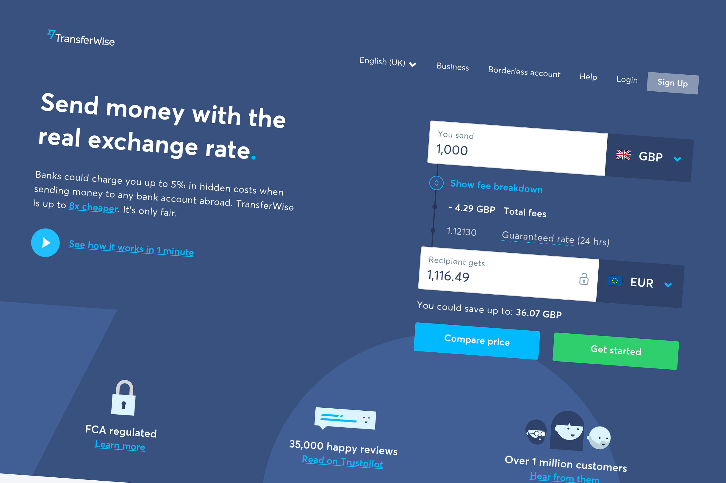Fintech Startup Transferwise Cuts Fees As Competition Heats Up Wiring Money Online To A Bank Account Bloomberg