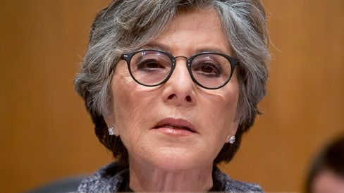 Senator Barbara Boxer, a Democrat from California, center, speaks during a Senate Environment and Public Works Committee markup meeting on reauthorization legislation for highway and transit programs in Washington, D.C., U.S., on Thursday, May 15, 2014.