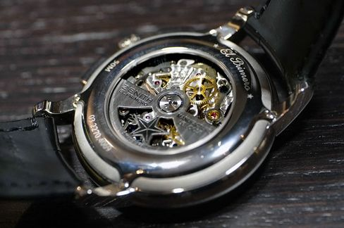 The fast 5 Hz automatic El Primero movement is the core of this watch.