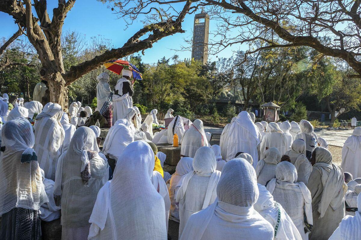 Pilgrims in Aksum, Ethiopia