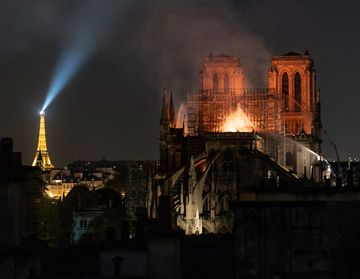 The Latest: Macron Pledges to Rebuild Cathedral in 5 Years
