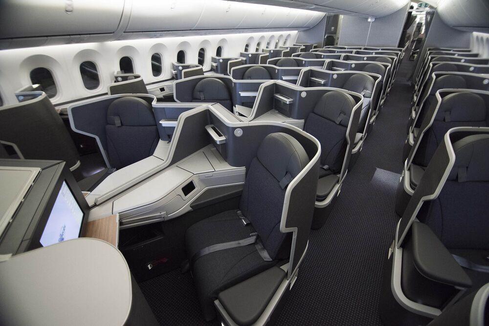 Who's Winning the U S  Business Class Cabin Showdown? - Bloomberg