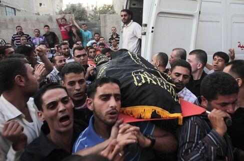 Israeli Air Force Strikes Gaza Following Hamas Mortar Attack